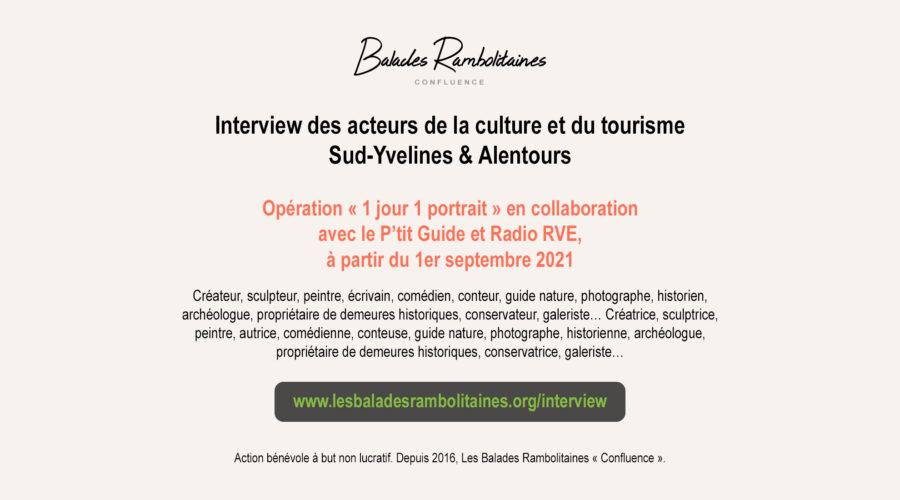 1 jour 1 portrait – Interview des acteurs de la culture et du tourisme